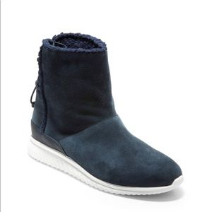 Cole Haan Studiogrand Slip On Boots - Blue Size 7B